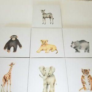 Baby Animals Nursery Wall Canvas Decor